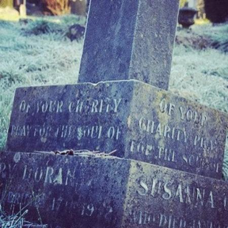 The Old Cemetery: frosty morning