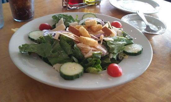 Aldo's: House Salad...Very Fresh Lettuce, and Fresh Parmesan Slices.
