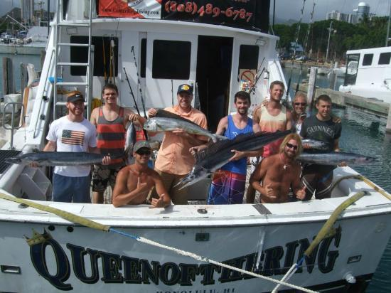 Center Ring Diving: Us and the crew after our fishing trip