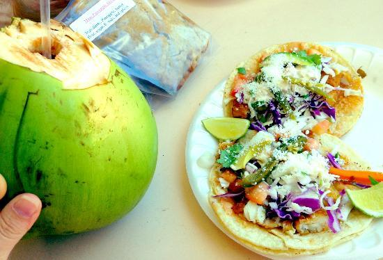 Latino Market Mexican Food: Fish Tacos are Awesome!