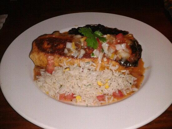 Table Mountain Inn Hotel, Grill & Cantina : Carnitas burrito.