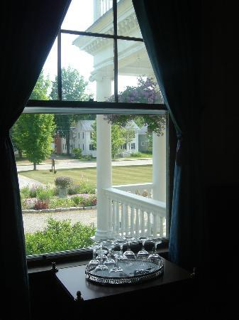 Governor's House in Hyde Park: View toward Main Street from the library