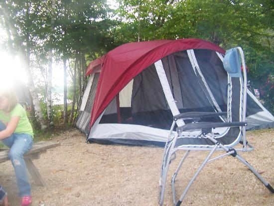Balsam Cove Campground: Roomy site, enough room for an 8 person tent, our chairs, a picnic table and a fire ring