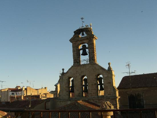 Hotel Alda Plaza Mayor: View from Hotel San Juan - Stork's nest on bell tower 2