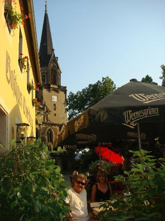 Gasthaus Oberschänke: the outside dining area