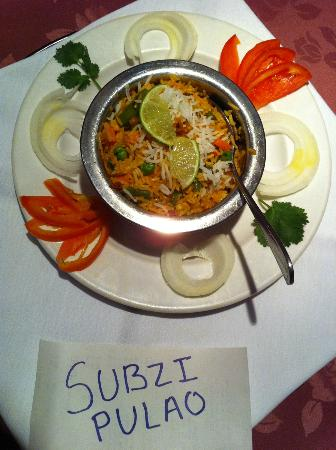 Trimurti Indian Cuisine: Veg.Pulao