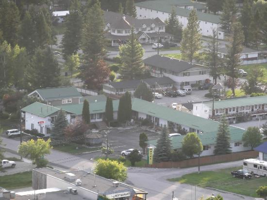 Aerial View Big Horn Motel