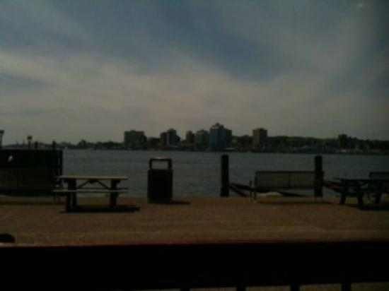 Evans Fresh Seafoods and Restaurant : A nice view of Halifax from the picnic table