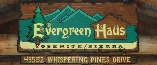 Evergreen Haus: Custom Wood Hand Carved Sign