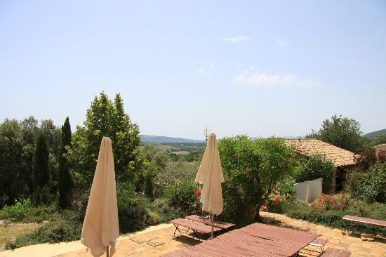 Les Coustetes: View from the terrace