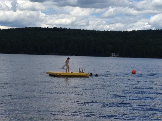 Balsam Cove Campground: swimming fun!!