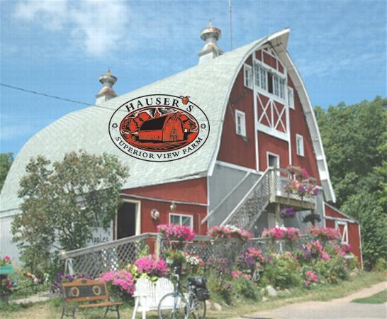 Bayfront Inn: Hauser orchard and barn