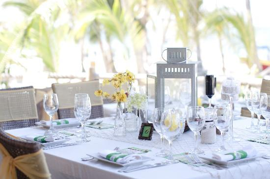 Table decor Picture of Jellyfish Beach Restaurant Punta Cana