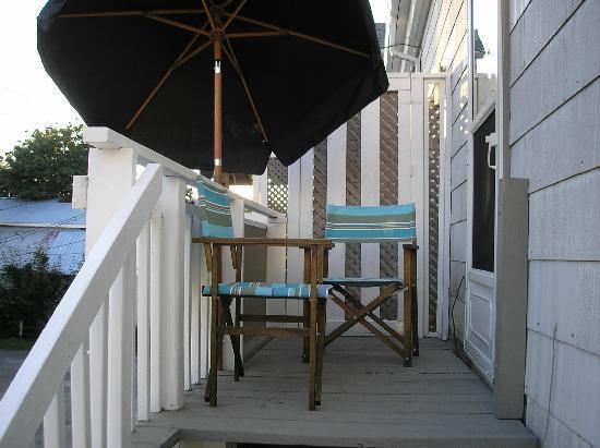 Europa Inn & Restaurant: Balcony from staircase