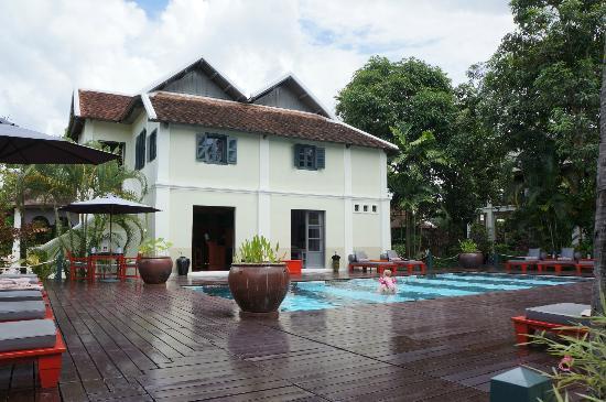Villa Maly Boutique Hotel: Main hotel, pool and spa.