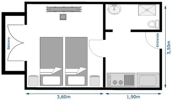 Studio floor plan picture of neraida studios tsilivi for Photography studio floor plans