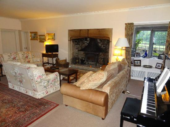 """Erth Barton"" sitting room with that enormous fireplace"