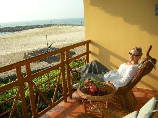 White Sands Resort: You can relax on the room balcony during the day or even better in the evening
