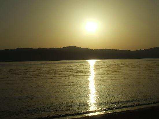 Filia Studios & Apartments: Sunset on Agia Eleni beach