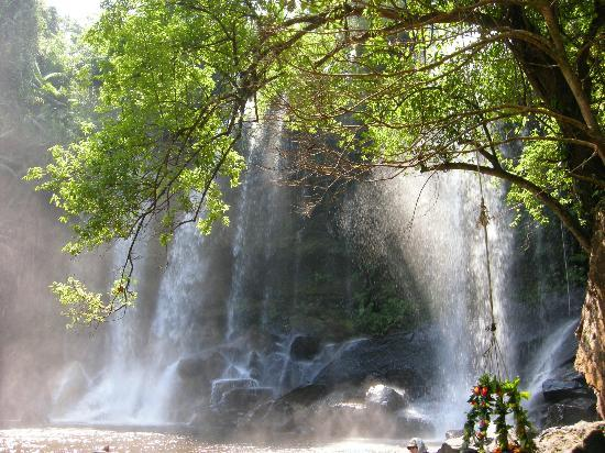 Sonalong Boutique Village & Resort: Phnom Kulen Waterfalls. Bliss after bumping road.