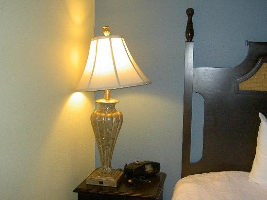 Hampton Inn Murrells Inlet/Myrtle Beach Area: Lamp shade needed straightening.  I'm a stickler for detail - sorry!