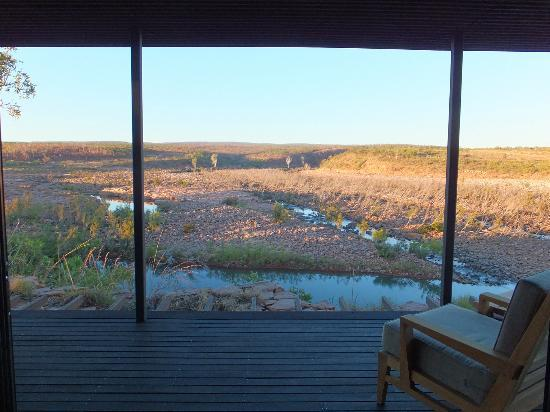 El Questro Homestead: View from the bath