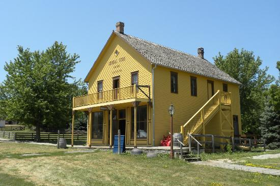 Living History Farms: General Store in town - one of many buildings
