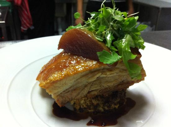 Rocking Horse Lounge: Slow roast porkbelly with sticky plums