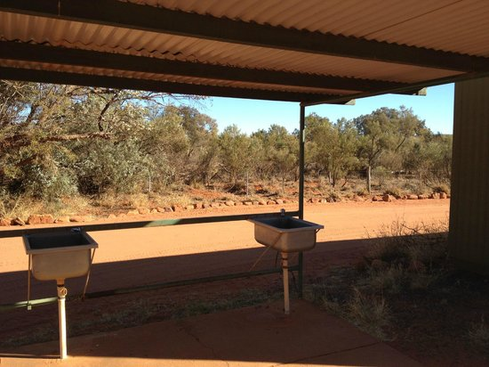 Kings Creek Station: Shelter with sink.