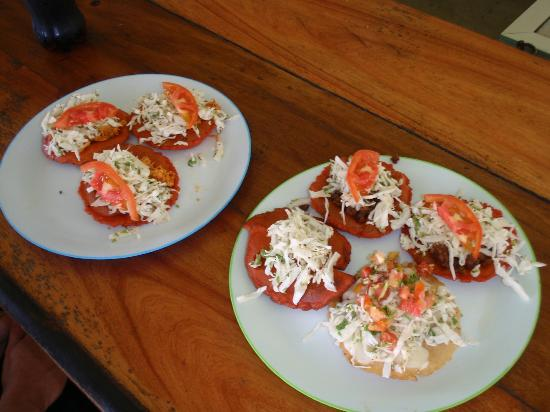 Ak'bol Yoga Retreat & Eco-Resort: Chicken Salbutes, panadas, and pupusas, Amazing!!