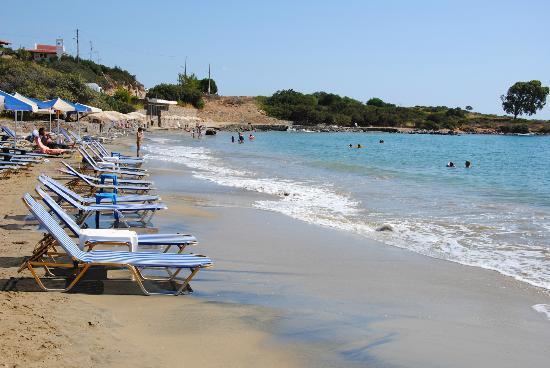 Ammoudara Beach Hotel: strand bij appartementen