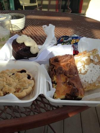 Passion Pie Cafe : a collection of goods from their bakery, the lemon bar was the best