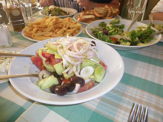 George and Zachos: Greek salad and real french fries