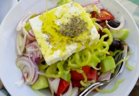 George and Zachos: Greek salad