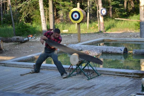 Jack Pine Lumberjack Show: Big Saw