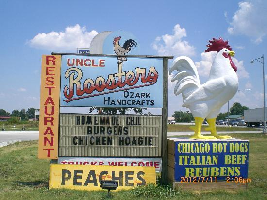 Uncle Roosters : Your first hint of what awaits you is the rooster out front