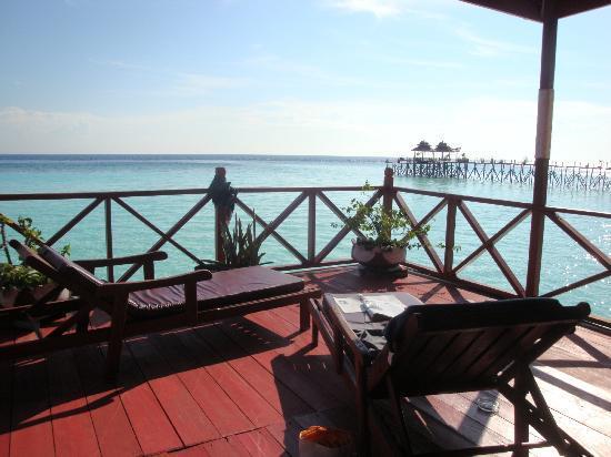 Maratua Paradise Resort: la terrazza della nostra stanza