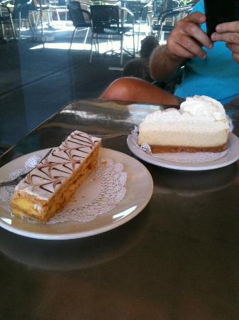 International Delights: a napoleon and a vanilla bean cheese cake