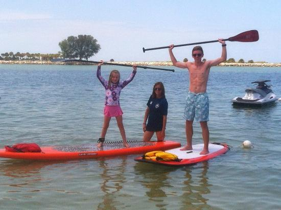 Tampa Bay SUP Stand Up Paddleboarding & Kayaking: Our family SUPing