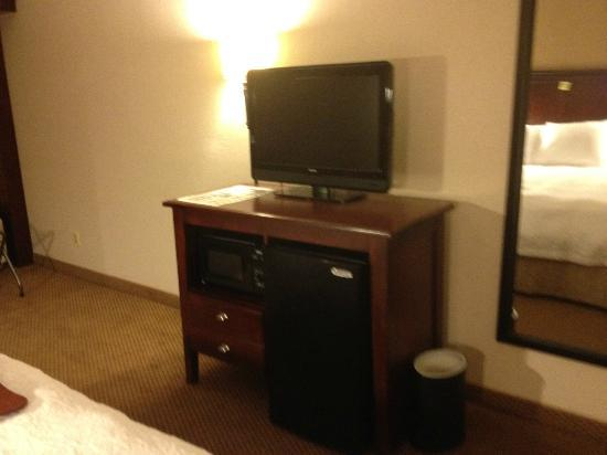 Hampton Inn: Flat screen TV in room