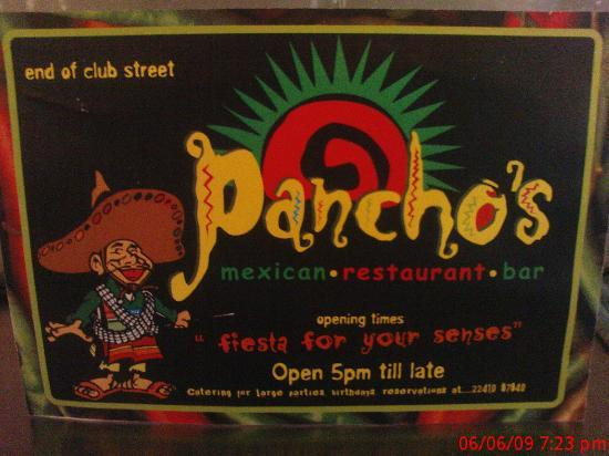 Pancho's Mexican : sign