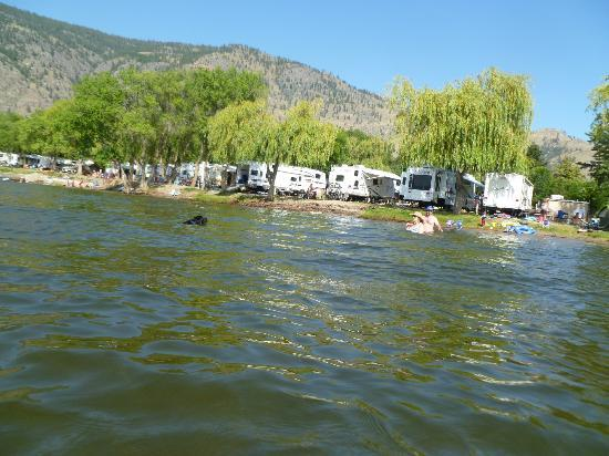 ‪‪Nk'Mip Campground & RV Resort‬: Lakefront sites