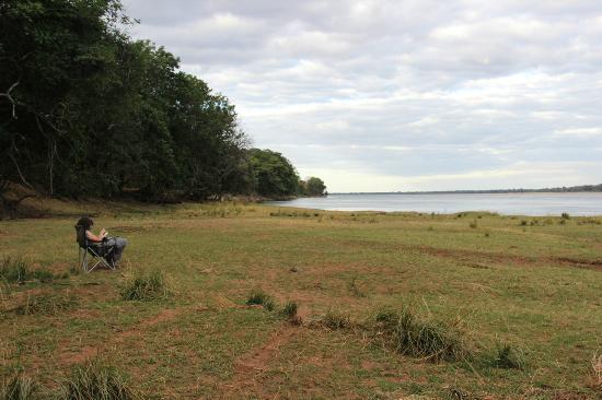 Mvuu Lodge: Bird, hippo and crock watching near the river