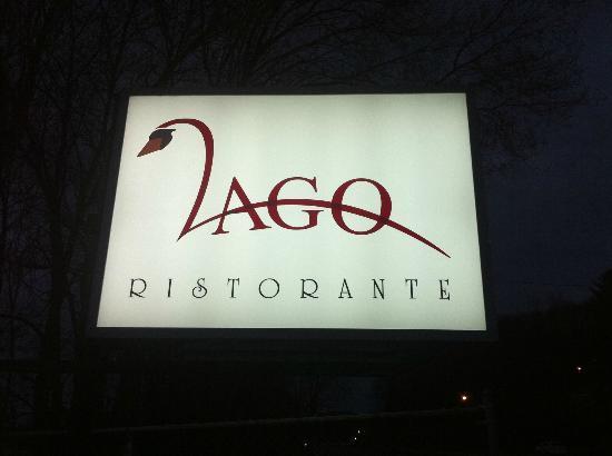lago ristorante: the outside sign