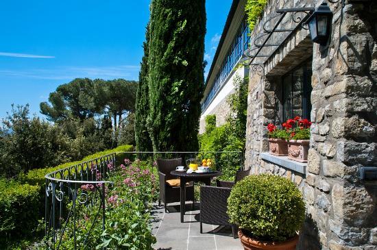 FH Villa Fiesole Hotel: Patio
