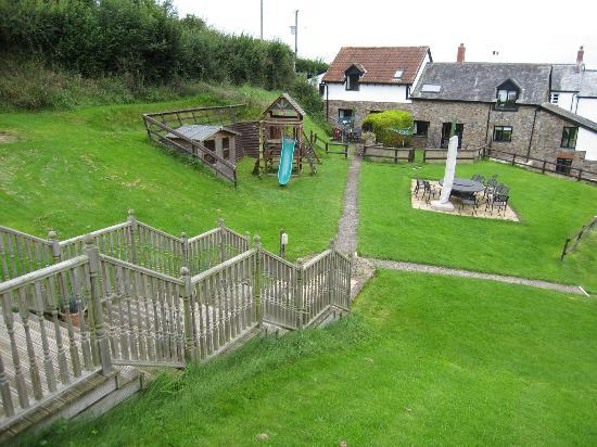 Robin Hill Farm Cottages: Cottages from the games area