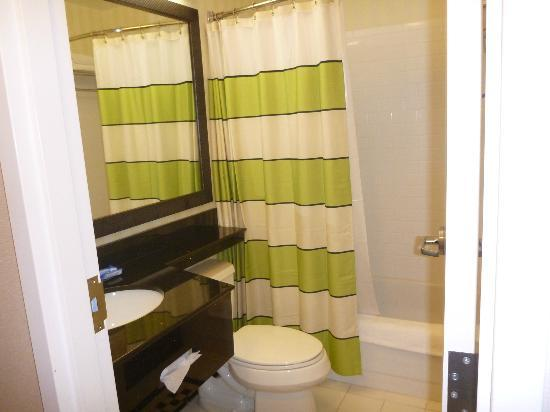 Fairfield Inn & Suites Hartford Airport: Clean and well equipped bathroom