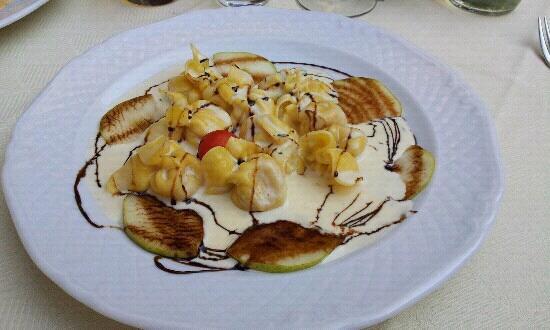Taverna dei Capitani: Tortellini mit Birnen und Walnussso?e - lecker!