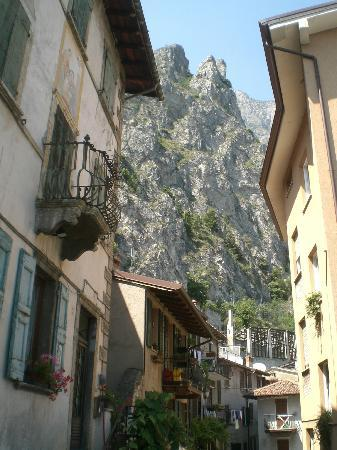 Hotel Europa: A typical village street, with the mountain backdrop.  So much nicer then any photograph can por
