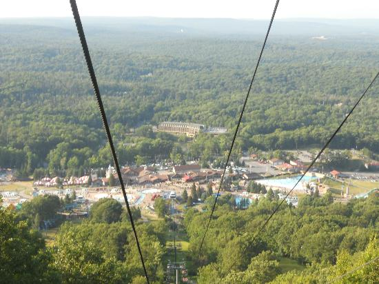 Camelbeach Mountain Waterpark: waterpark from ropeway